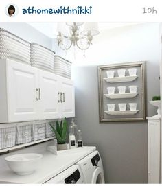 Nikki Boyd's laundry room makeover Her whole home is fabulous!  Love her youtube chanel