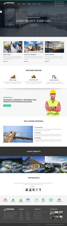 Continal is a business WordPress #template for #construction, building companies and those that offer building services #website. Download Now!