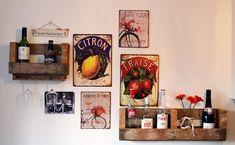DIY Pallet Wine Rack  #homeinteriors #kitchen #pallet #winerack