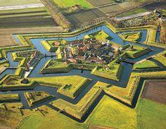 ...a pentagonal fortress --fort bourtange in groningen, netherlands