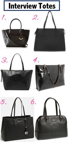 Hunting for a stylish #interview #tote?  We round up six great ones available on the market now...