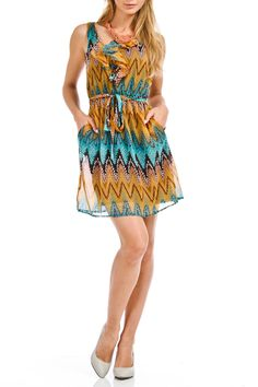 Lola - Queenie Dress in Teal and Gold