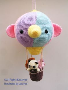 Etsy の Hot Air Balloon Amigurumi PDF Crochet Pattern by jaravee