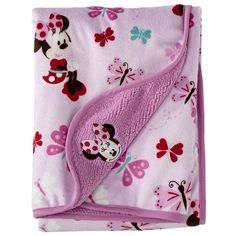 Kids Line, Disney Minnie Mouse Velour Sherpa Blanket Luxury Baby Clothes, Disney Baby Clothes, Cute Baby Clothes, Baby Disney, Babies Clothes, Baby Swaddle Blankets, Baby Girl Blankets, Twin Baby Rooms, Minnie Mouse Nursery