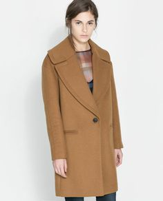 Image 2 of COAT WITH LARGE LAPEL from Zara