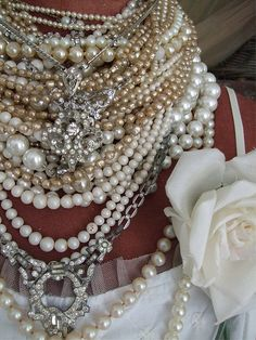 Pearls and bling by athingforroses, via Flickr