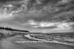 Gallery - Mike Nuhn Photography - Ocean - Gulf of Mexico - Pensacola Beach, Florida - Black and White Storm Clouds Rolling In