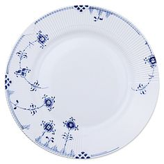 Royal Copenhagen's Blue Elements Dinnerware adds delicate touches of rich, royal blue to the chic Elements pattern. Playful flowers and tendrils dance across beautifully embossed, pure white porcelain for a look that fuses traditional and modern style.