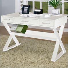 Coaster Desks Desk With Three Drawers in White - 800912 -  $276  7-5-14  48 X 24