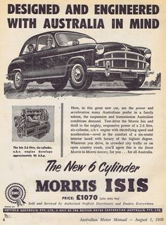 Morris Oxford, Australian Cars, Car Advertising, Automotive Art, Commercial Vehicle, Retro Cars, Car Photos, Vintage Ads, Art Cars