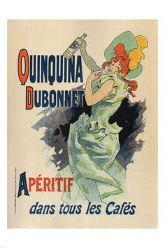 QUIQUINA DUBONNET vintage AD poster Jules Chéret FRANCE 1895 24X36 collectors | eBay