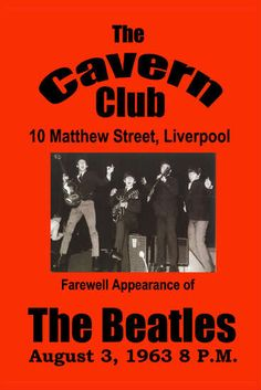 The Beatles at Cavern Club Concert Poster 1963