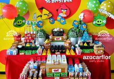 AZUCAR FLOR party studio: Angry Birds (Sebastián)