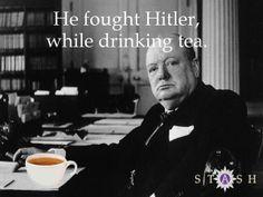 Stash Tea by Joe Manzari, via Behance. An homage to Winston Churchill.