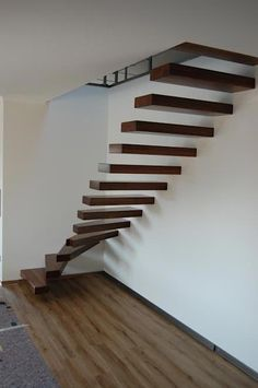 Sick Mode is the best small site talk about more information, design inspiration, house interesting, creative inspiration, and tips. Cantilever Stairs, Stair Railing, House Stairs, Facade House, Building Stairs, Home Design Floor Plans, Floating Staircase, Modern Stairs, Barn House Plans