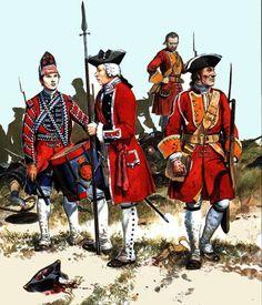 British infantry, Seven Years War