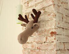 DIY PDF Pattern moose head  crochet pattern by Anitareus on Etsy, €4.00