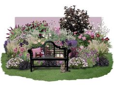 """Gemeinsam mit dem Magazin """"Lust auf Natur"""" haben wir dieses Beet entwickelt: Terrassenflächen schön zu umpflanzen ist manchmal gar nicht so… Rosen Beet, Clematis, Zeppelin, Outdoor Furniture, Outdoor Decor, Garden Landscaping, Landscape, Amazing, Modern"""