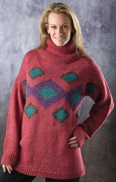 7137ff63dcc8f Free Universal Yarn Pattern   Intarsia Pullover by Helen Hamann Universal  Yarn