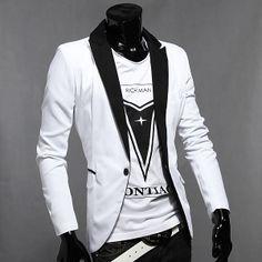 Men's Fashion Casual Slim Fit One Button Suit