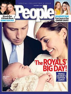 People Magazine cover is all about the royals. Kate Middleton and Prince William are featured on the cover, smiling down at their adorably happy son, Prince George  #PrinceGeorge #KateMiddleton