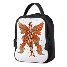 Neoprene Lunch Bag www.teeliesfairygarden.com A mighty bag for your food. Its insulating neoprene keeps food hot or cold longer. #fairylunchbag