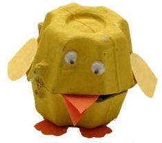 Easy Egg Carton Chicks!