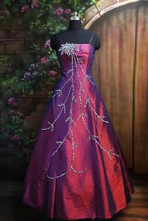 Beautiful Purple Wedding Gown | Purple strapless prom dress elegant and beautiful