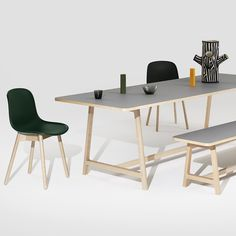 Ready for the weekend with the Frame bench and table plus Neu chair #HAY #haydesign by haydesign