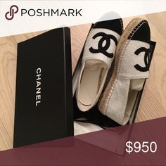 Chanel espadrilles flats 38 BNIB Brand new sold out!  Impossible to find now. Size 38. Comes with box and original packaging. 🚫no trades🚫 CHANEL Shoes Espadrilles