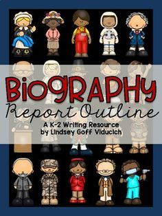 We use this biography outline in my second grade classroom as a resource to help students organize their research for a biography report. The simple outline and clear questions help students focus and organize their expository writing.I hope this resource helps you in your classroom!