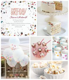 Tiny Prints Thirteenth Birth Party Inspiration Board: Nothing says celebrate quite like confetti! Throw a festive thirteenth birthday bash with sequins and sprinkles.