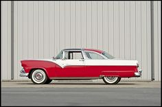 1955 Ford Crown Victoria.  I love the forward leaning stance of this car.  Looks like it wants to run!