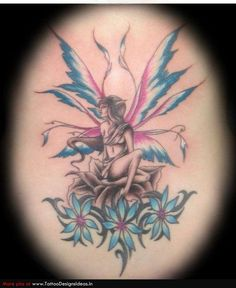 Beautiful Colored Fairy Tattoos