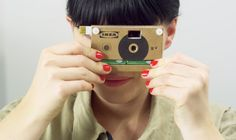 IKEA reveals KNÄPPA cardboard digital camera: The eco-friendly and recyclable KNÄPPA camera is made out of one piece of folded cardboard which is secured by two plastic screws