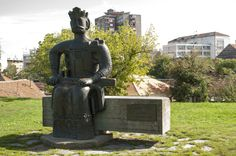 "Monument to the founder of Krusevac, Prince Lazar, located in the eastern part of the archaeological park ""Lazar's Town""."