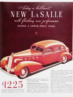 Vintage Car Advertisements of the 1930s