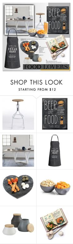 """""""Gift Guide: Food Lovers"""" by cruzeirodotejo ❤ liked on Polyvore featuring interior, interiors, interior design, casa, home decor, interior decorating, Dot & Bo, H&M, ThinkGeek e CB2"""