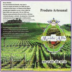 JORNAL AÇÃO POLICIAL SÃO MIGUEL ARCANJO E REGIÃO ONLINE: Vinícola Monte Alto Venda de Uvas e Vinhos Rodovia Neguinho Fogaça (SP-139), km 82 Abaitinga - São Miguel Arcanjo - SP e-mail: vinhosmontealto@hotmail.com Tel: 15-9711-7299 - 15-9717-9251