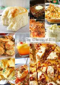 Are you wondering what the BEST recipes for the year are? This list of the Top 10 Recipes for 2016 shout loud & clear it's all about the comfort food!
