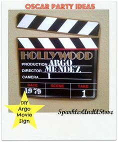 Oscar Party Ideas Sign