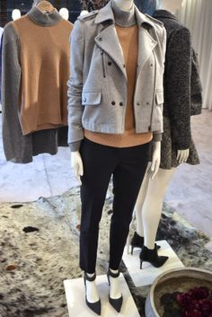 saw this sweater in the store yesterday and I was drooling. Love camel and grey. Loft Outfits, Fall Outfits, Ann Taylor Loft Dresses, Autumn Winter Fashion, Fall Fashion, Work Wear, Personal Style, My Style, Nyc