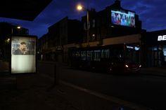 Title: Tobey Maguire Billboard installation 213 Rye Lane, Peckham, London UK  www.radunastasia.com