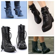 22. Next trend to watch for Fall 2013 - Moto Boots!   Moto boots are the perfect way to create an edginess to your look. They're comfortable, yet chic. Whether you go with lace ups or something with studs and buckles channel your inner biker chick with these rugged, yet sexy boots.