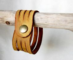 Four Strand Leather Cuff Bracelet
