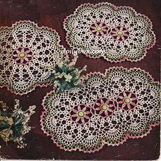 Free Vintage Crochet Three Way Daisy Doily Pattern
