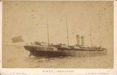 White Star liner Britannic of 1874 serving as a Boer War troopship.