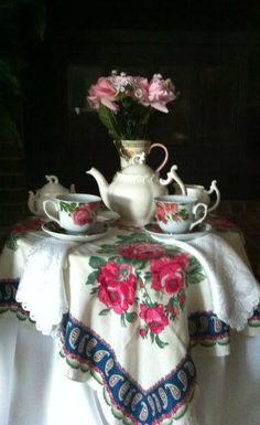 Elegant Tea Time Table Setting
