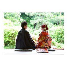 お店のホームページに載っていた♡データ早く欲しいなあ! #wedding #前撮り#和装#和装前撮り #和装ヘア#photoshoot #フォトウェディング#photowedding#ロケーション