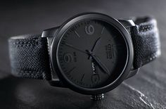 Its black-on-black design gives it a versatile look. Pair that with its Eco-Drive technology and you have a great everyday watch. Cool Watches, Watches For Men, Simple Watches, Style Personnel, Citizen Eco, Black Stainless Steel, Coco Chanel, Omega, Diana